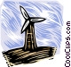 Hydro electrical industry, windmill Vector Clip Art graphic