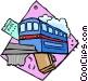 public transportation Vector Clip Art image