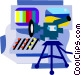 film and video industry Vector Clipart illustration
