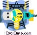 hydro electric industry Vector Clip Art image