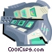 control room Vector Clipart illustration