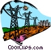 hydro electrical industry Vector Clip Art picture