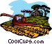 gathering the hay crop Vector Clip Art graphic