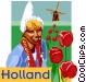 Holland postcard design Vector Clip Art picture