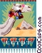 Egypt postcard design Vector Clip Art picture