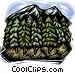mountain with trees Vector Clipart picture