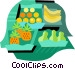 Fruit and vegetable market Vector Clipart illustration
