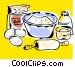 baking ingredients Vector Clipart graphic