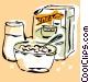 breakfast cereal Vector Clipart illustration