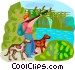 duck hunting Vector Clip Art image