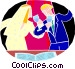 Wedding couple making a toast Vector Clip Art picture