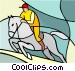 Sports, equestrian Vector Clip Art picture