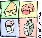 food designs Vector Clipart illustration