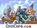 Washington crossing the Vector Clip Art image