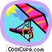 hang gliding Vector Clip Art graphic