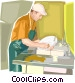 dish washer Vector Clipart picture