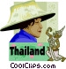 Thailand postcard design Vector Clipart graphic