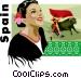 Spain postcard design Vector Clipart graphic
