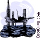 oil drilling platform Vector Clipart picture