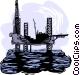 oil drilling platform Vector Clipart picture