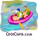water sports Vector Clip Art image