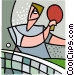 racket sports Vector Clipart illustration