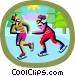 winter sports Vector Clip Art graphic