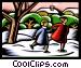 skating Vector Clipart image