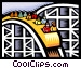 roller coaster Vector Clip Art graphic
