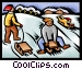 tobogganing Vector Clipart illustration