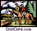 Men on horseback Vector Clipart image