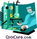 Men working in lab Vector Clipart graphic