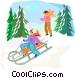 sleigh ride Vector Clip Art image