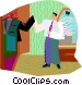 man getting dressed Vector Clip Art picture