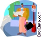 man reading Vector Clipart picture