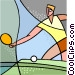 Ping-Pong Vector Clip Art image