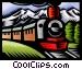 Steam train Vector Clip Art image