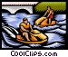 People riding jet skis Vector Clipart illustration