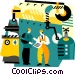 industrial production Vector Clipart image