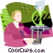 Scientific testing Vector Clip Art image