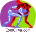wrestling with an opposing Vector Clip Art graphic