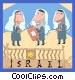 Israeli scholars Vector Clipart picture