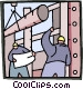 guiding the construction Vector Clip Art picture