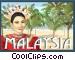 Malaysia postcard design Vector Clip Art graphic