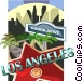 Los Angeles and Rodeo Drive Vector Clip Art image