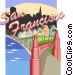 San Francisco and Golden Gate Vector Clip Art picture