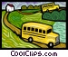 school buses Vector Clipart illustration