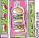 hamburger design Vector Clipart graphic