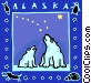 Alaska and Polar bears Vector Clipart graphic