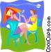 summer holidays Vector Clip Art image